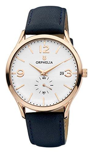 Orphelia Herren-Armbanduhr Tiempo Analog Quarz Leder (Reden Sie Datum Und Zeit, Uhr)