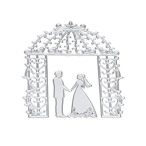 Covermason Romantic Metal Wedding Cutting Dies Stencils For DIY Scrapbooking Paper Card Album Craft Handmade (F) Test