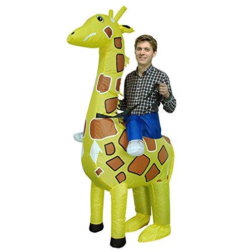 Triseaman Unisex Erwachsene Halloween Lustige Fancy Blow Up Outfit Kostüm Aufblasbare Anzug (Giraffe Anzug)