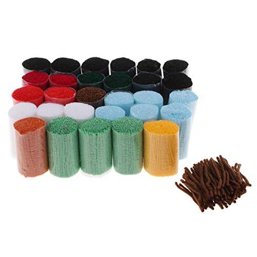 2 Set Knüpfteppich Formteppich (Katze und Marienkäfer) für Kinder und Erwachsene zum Selber Knüpfen Teppich, Latch Hook Kit -