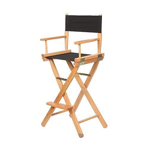 Jiangang shop-Hocker Haus Massivholz Regiestuhl Faltbarer Leinenstuhl Barstuhl Rückenlehne Büroliege Make-up-Stuhl Angelstuhl Strandstuhl (Farbe : C) -