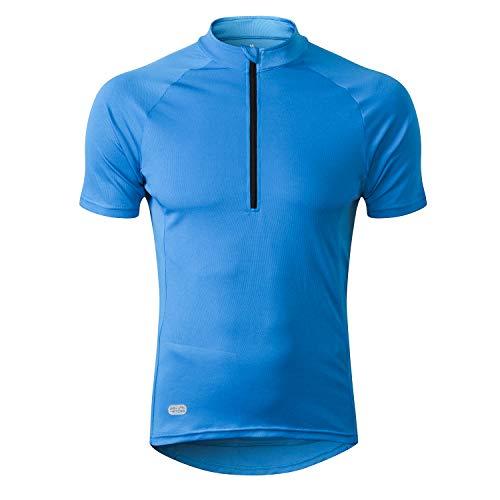 INBIKE Maillot Ciclismo Hombre Verano Ropa Bicicleta con Manga Corta para MTB Bici Ciclista(Azul,XL)