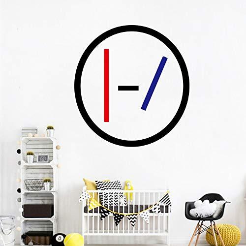 Twenty One Pilots 21 Vinyl Decals Wall Sticker per Bar Decorazione Fai da te Home Bedroom Decor Music Band Poster murale