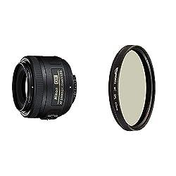 Nikon AF-S DX Nikkor 35mm 1:1,8G Objektiv (52mm Filtergewinde) & AmazonBasics Zirkularer Polarisationsfilter - 67mm