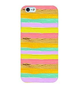 MULTICOLOURED ARTISTIC OVERLAPPING WAVES PATTERN 3D Hard Polycarbonate Designer Back Case Cover for Apple iPhone 6Plus