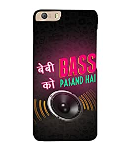 Baby ko Bass Pasand Hai 3D Hard Polycarbonate Designer Back Case Cover for Micromax Canvas Knight 2 E471