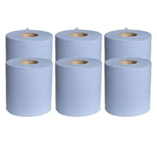 2 X 6 x Blue Paper Rolls - 2 Ply Embossed Centre Feed - Hand Towel - 130 Metre
