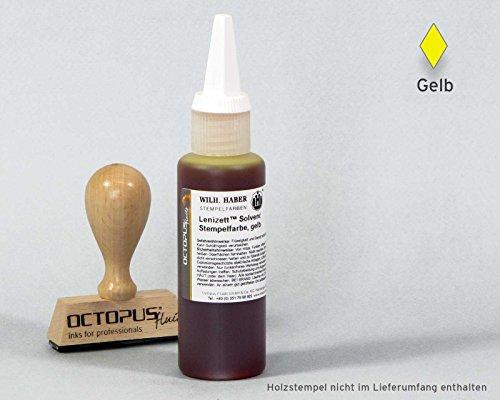 Gelb Alkohol-tinte (50 ml Solvent Stempelfarbe gelb, wasserfest auf Lösemittelbasis für nicht saugende und nicht poröse Untergründe, lasierend)