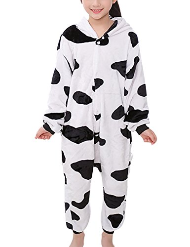 Mena Uk Teen Cartoon Piece Pyjamas Flanell Pyjamas Trainingsanzug Rollenspiel Animal Play Halloween Dress ( Farbe : 12-Cows , größe : 115(120cm-130cm) (Teen Halloween Kostüme Uk)