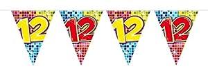Folat Nuevo Banderolas Birthday Blocks 12, 6m, 1Stk.