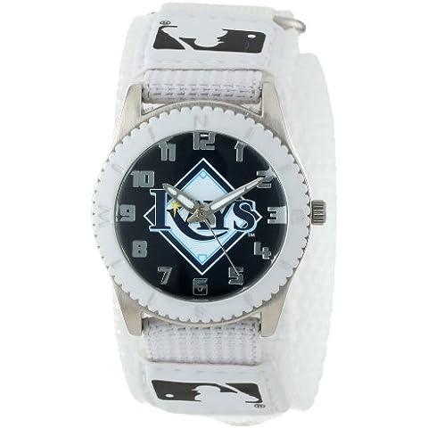 Tiempo de juego de tamaño mediano MLB-ROW-TB Devil Rays de Tampa Bay de novato serie blanca reloj de
