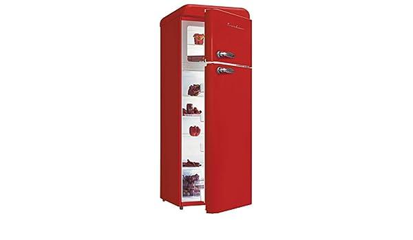 Schaub Lorenz SL208DDR Autonome 208L A+ Rouge réfrigérateur-congélateur -  Réfrigérateurs-congélateurs (208 L, N-ST, 42 dB, 2 kg 24h, A+, Rouge)   Amazon.fr  ... 9f5a1a651763