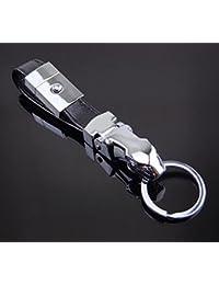 Flikool Metal Llavero Keyring Cadena de Clave Aleacion de Zinc Genuina Piel  Colgante Keychain para Pantalones 19d5a50f2da
