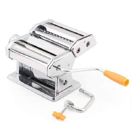 Stainless Steel Pasta Machine, Household Manual Noodle Cutter Small Split Type Pasta Maker Profesional Kitchen Craft for Fresh Homemade Fettuccine Spaghetti Lasagne (Color : Silver)