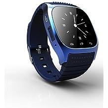 rwatch M26Wearable SmartWatch, control de medios/llamadas manos libres/podómetro/Anti-lost para Android/iOS