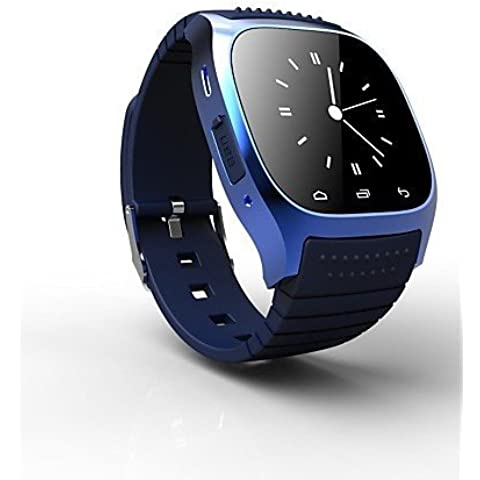 rwatch M26 Wearable SmartWatch, control de medios/llamadas manos libres/podómetro/Anti-lost para Android/iOS