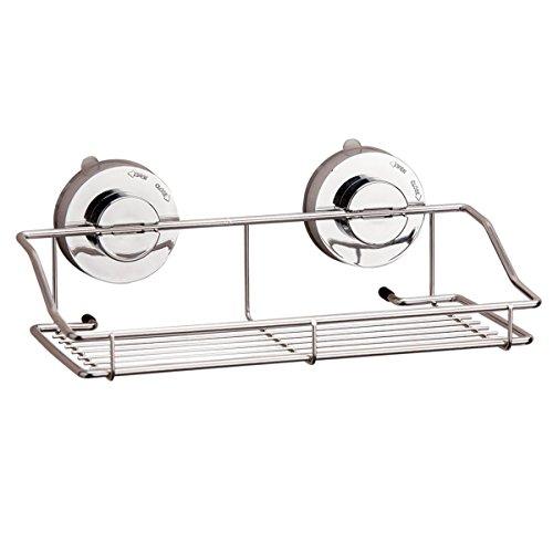 Ventose Rack, GETALL in acciaio inox bagno Rack polloni deposito cestino gancio, cucina e bagno (Cesti Bambino Di Vimini)