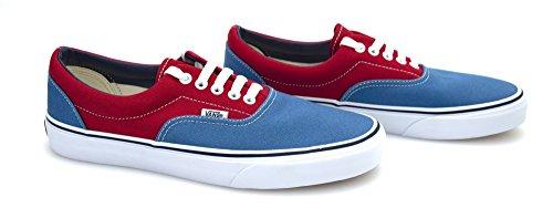 Vans U ERA (2 TONE) LEOPAR, Sneaker uomo, golden coast deep water/true red, 42.5