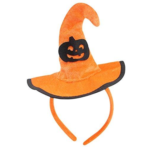 HuntGold Halloween Party Stütze Dekor Stirnband Orange Tuch Kürbis Hexe Schläger Hut Kopfbedeckung - Halloween-dekor Kürbisse