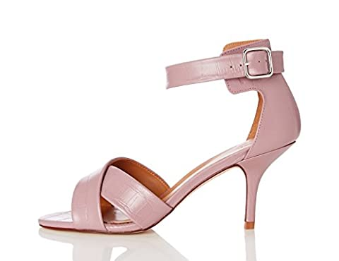 FIND Women's Twist Open-Toe Sandals, Pink (Pink), 8 UK 41 EU