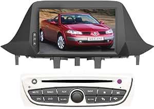 Autoradio pour Renault Megane Fluence avec GPS - 7 pouces, GPS, FM/AM/Radio,2 Din, , Bluetooth Annuaire téléphonique, Support iPod