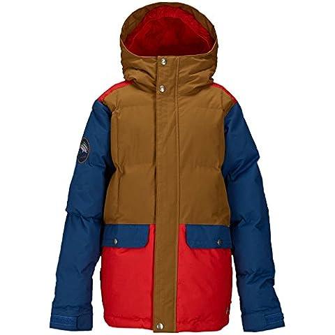 Burton Boys Tundra Pufy giacca da snowboard da ragazzo, beaver tail block, (Giacca Ragazzi Sistema)