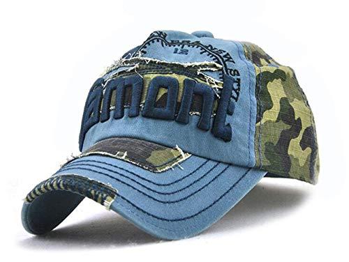 Camouflage Army Cap Herren Basecap Snapback Sport Outdoor Baseball Kappe (Blau)