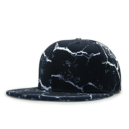 cappello di hip-hop Corea maschile/Street dancing cappello piatto/Coreano moda tempo libero fumo stampa berretto da baseball-B regolabile