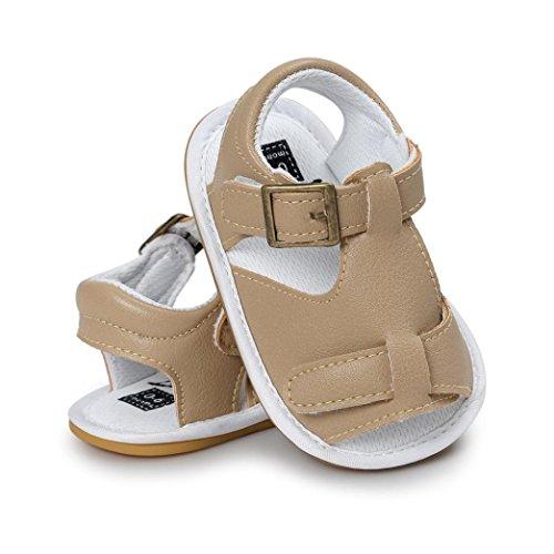 Scarpe per bambini Koly_Neonati maschi sandali del pattino dei pattini casuali della scarpa da tennis antiscivolo morbida Sole Bambino Khaki