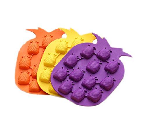 hosaire-2pcs-island-pineapple-party-novelty-silicone-jello-chocolate-mold-ice-cube-tray-random-color