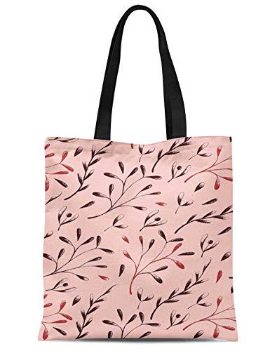 S4Sassy Rosa european ash Samen Blatter gedruckt frauen große einkaufstasche schulter handtasche einkaufstasche 16x12 Zoll -