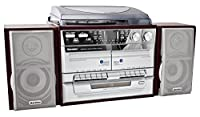 Karcher KA 320 Kompaktanlage (CD-Player, Doppelkassettendeck, Schallplattenspieler, USB, SD-Kartenleser, Radio, Fernbedienung)