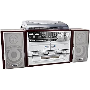 kompaktanlage mit plattenspieler radio kassette cd usb. Black Bedroom Furniture Sets. Home Design Ideas