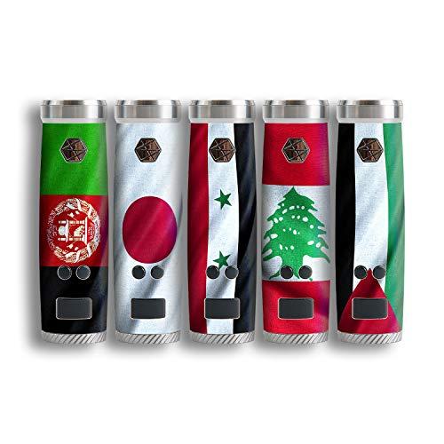 atFoliX Designfolie kompatibel mit Uwell Nunchaku, wähle Dein Lieblings-Design aus, Skin Aufkleber (Flaggen aus Asien)
