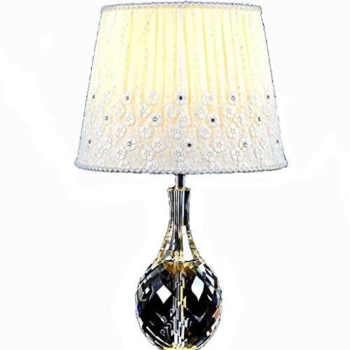 Pur-push-button (Schlafzimmer Tischlampe Kristall Lampe Nachttischlampe E27 Licht Hochzeit personalisierte Kristall Lampe Pure K9 Kristall (ohne Lichtquelle) (Farbe : Push Button Switch))