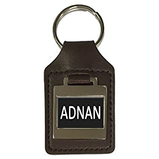 Leather Keyring Birthday Name Optional Engraving - Adnan