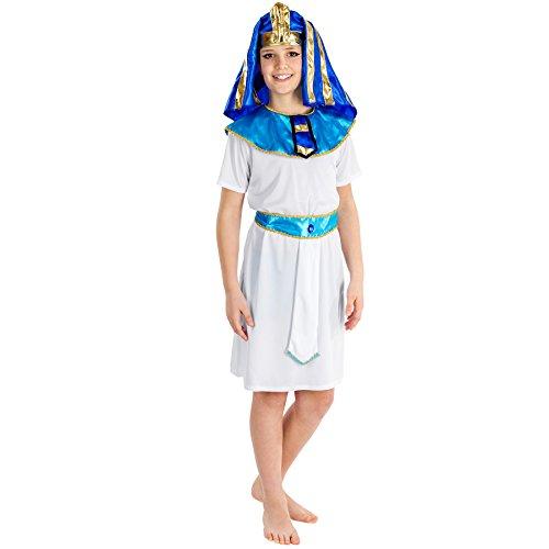 TecTake dressforfun Jungenkostüm Kleiner Pharao | Bequeme Robe inkl. Pharao-Kopfbedeckung mit Gummizug + Gürtel (10-12 Jahre | Nr. 300381)