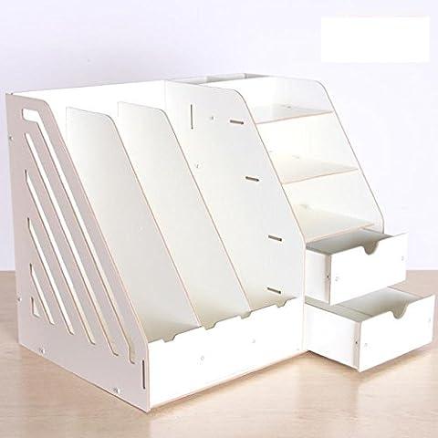 MNII bureau fournitures de stockage ordinateur de bureau de l'information porte-documents porte-bois dossier de rangement , meters whiteSimple et élégant- espace de rangement