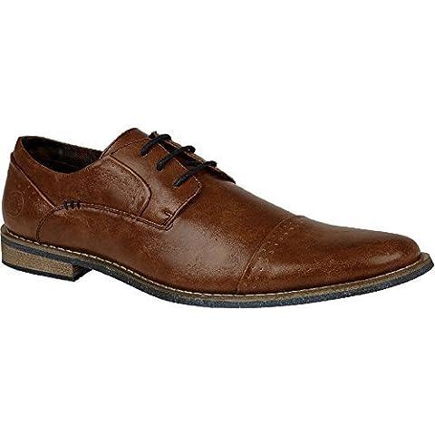 ZAFIRO BOUTIQUE Hombres Con Cordones Piel Sintética Noche Formal Derby Zapatos Vestido