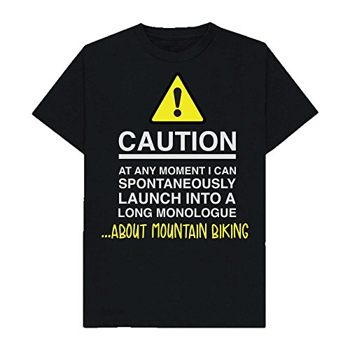 Caution - at Any Moment I Can Monologue About. Mountain Biking - Hobbies - Tshirt - Shaw T-Shirts - Sizes Small to 2XL