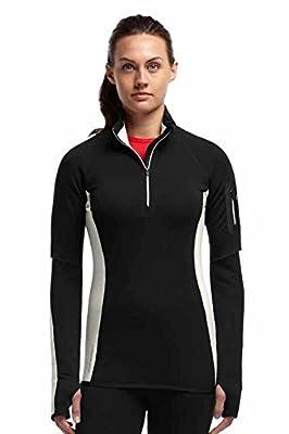 Icebreaker Damen Pullover Fleece Atom Long Sleeve Half Zip