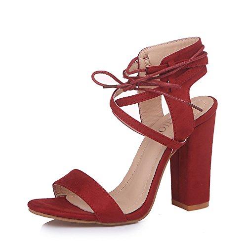 Donyyyy Großes Mädchen Schuhe, Jujube rot, 35