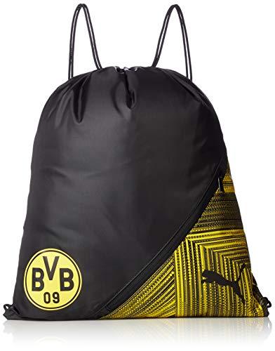 PUMA Unisex- Erwachsene BVB FtblCulture Gym Sack Turnbeutel, Black-Cyber Yellow, UA