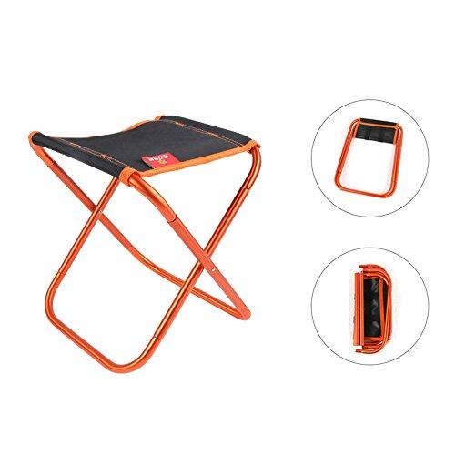 Umiwe Klapp Camping Stühle Rucksack Stuhl Ultraleicht Klappbarer Hocker Schwerlast Metall Plus Leinwand für Angeln Picknick GartenTravel Garden Patio Verwendung (Orange)