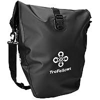 Premium-Fahrradtasche für den Gepäckträger • Große Radtasche mit abnehmbarem Schultergurt für Damen und Herren • Wasserfeste Gepäckträgertasche mit Reflektorschrift