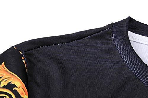 Pizoff Unisex Sommer leicht bunt bequem cool Digital Print Schmale Passform T Shirts mit Bunt 3D Muster Y1800-01