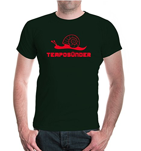 buXsbaum® T-Shirt Temposünder Bottlegreen-Red