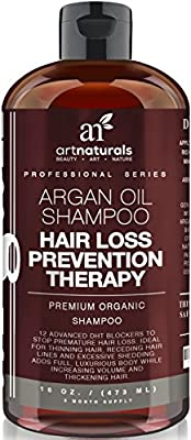 Art Naturals Organic Argan Oil Hair Loss Prevention Shampoo-Sulfate-free-Contains Biotin-3 Mo Supply from Art Naturals