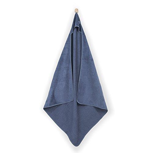 Jollein Cape de Bain XL, cape de bain XL 100 x 100 cm en velours éponge Sweet Bunny Bleu, cape de bain XL 100 x 100 cm en velours éponge Sweet Bunny Bleu, DE