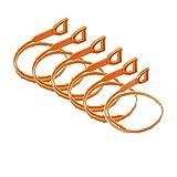 KEKU strumento di scarico dei capelli di rimozione intasare grande fuga, strumento di tipo coclea di pulizia, 6 Pezzi